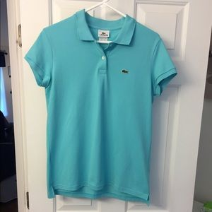 Lacoste blue polo size 12